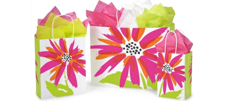 white paper gift  bags