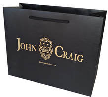 luxury paper bags with hot stamping logo and embossed pattern