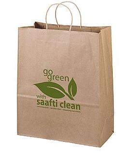 Printed brown paper bags